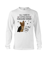 Coffee and Yorkshire Terrier Long Sleeve Tee thumbnail