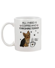 Coffee and Yorkshire Terrier Mug back