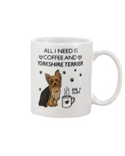 Coffee and Yorkshire Terrier Mug front