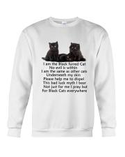 Black Cat Mug Crewneck Sweatshirt thumbnail