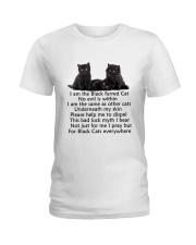 Black Cat Mug Ladies T-Shirt thumbnail
