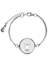 Rabbit - Some Bunny Metallic Circle Bracelet thumbnail