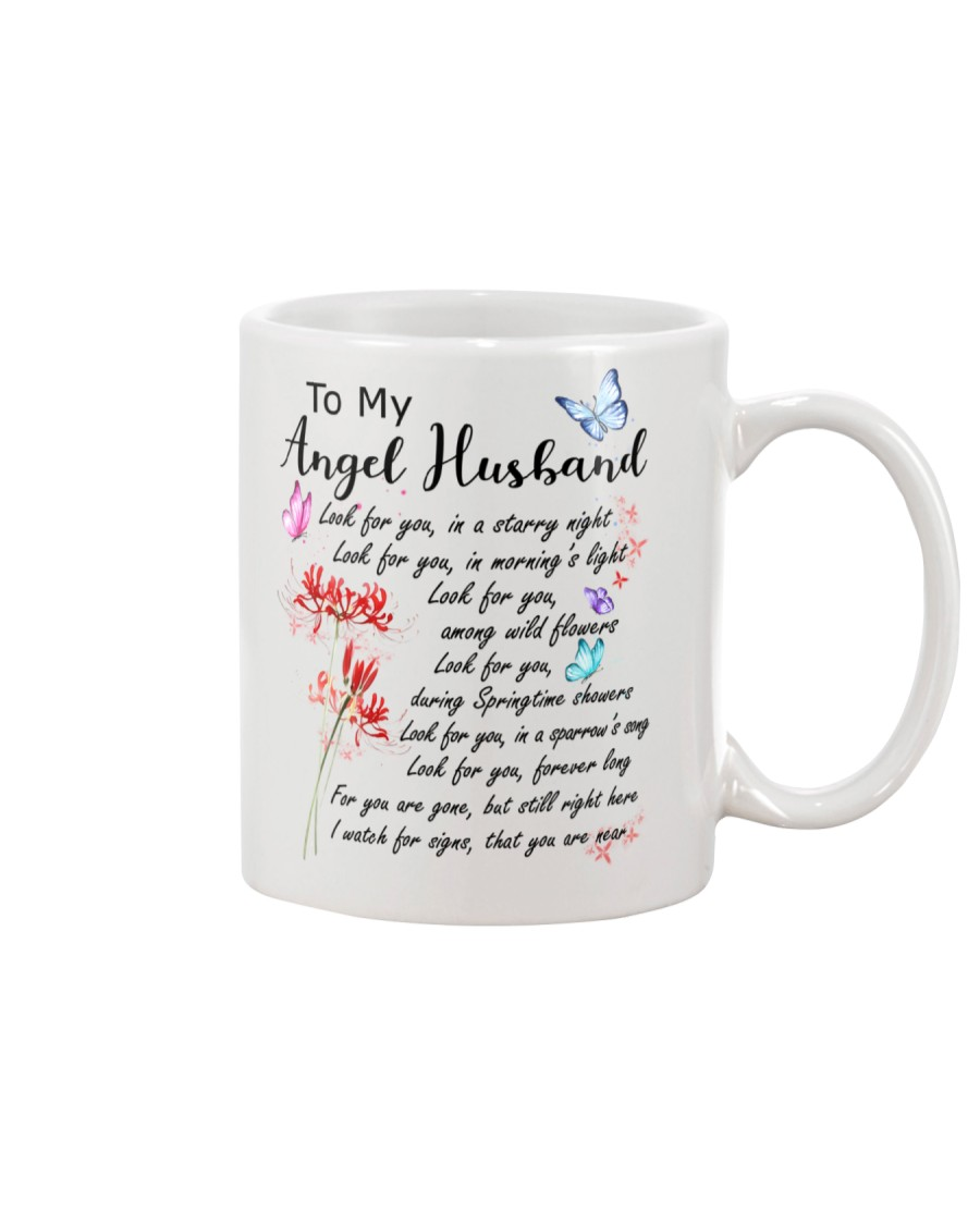Family To My Angel Husband Look for you Mug