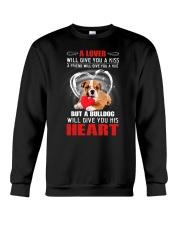 Bulldog Give You Heart Crewneck Sweatshirt thumbnail