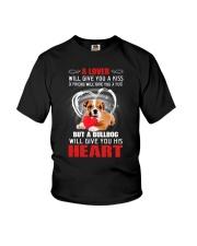 Bulldog Give You Heart Youth T-Shirt thumbnail