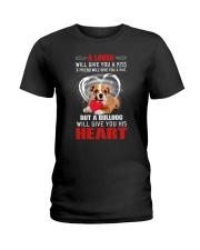Bulldog Give You Heart Ladies T-Shirt thumbnail