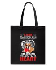 Bulldog Give You Heart Tote Bag thumbnail
