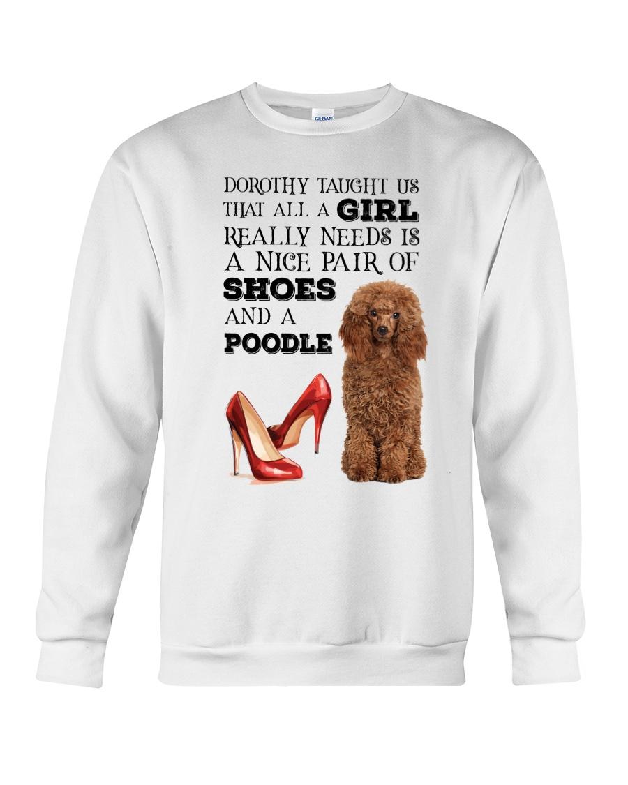 Poodle and shoes Crewneck Sweatshirt