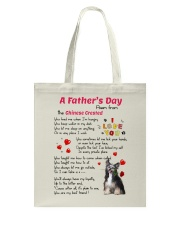 Chinese Crested Poem Tote Bag thumbnail
