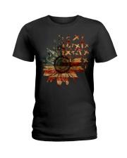Cross USA Flower T5tf Ladies T-Shirt thumbnail