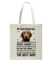 Chesapeake Bay Retriever Dear Human Tote Bag thumbnail