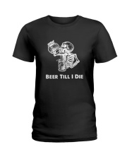Beer Skull Ladies T-Shirt thumbnail