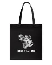 Beer Skull Tote Bag thumbnail
