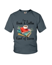 Book - Book and Coffee Youth T-Shirt thumbnail
