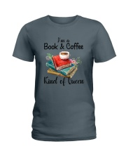 Book - Book and Coffee Ladies T-Shirt thumbnail