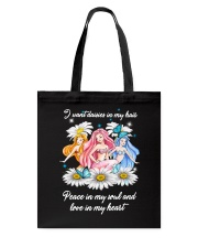 Mermaid Daisy Peace Love T5TE Tote Bag thumbnail