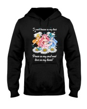 Mermaid Daisy Peace Love T5TE Hooded Sweatshirt thumbnail