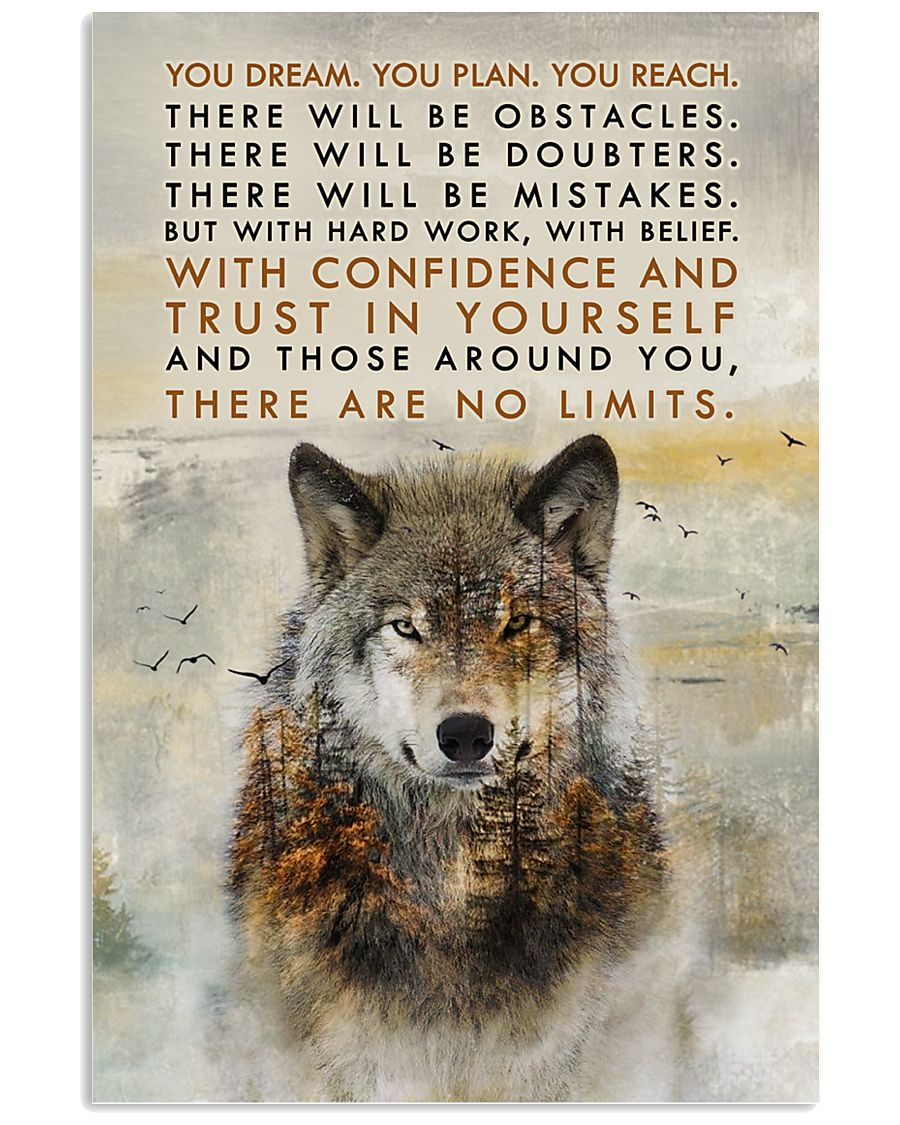Wolf No Limits  11x17 Poster