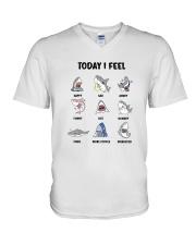 Shark - Today I Feel V-Neck T-Shirt thumbnail