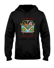 Dog - Living life in peace Hooded Sweatshirt thumbnail