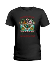 Dog - Living life in peace Ladies T-Shirt thumbnail