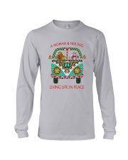 Dog - Living life in peace Long Sleeve Tee thumbnail