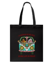 Dog - Living life in peace Tote Bag thumbnail