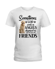Golden Retriever - good friend Ladies T-Shirt thumbnail