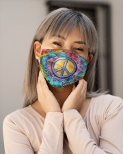 Hippie Peace Icons H28857 Cloth face mask aos-face-mask-lifestyle-17