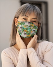 Tropical Pineapple Great Pyrenees H25824 Cloth face mask aos-face-mask-lifestyle-17