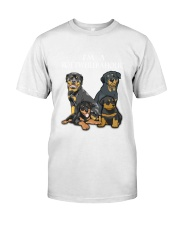 Rottweiler Camp Mau White Classic T-Shirt front