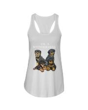 Rottweiler Camp Mau White Ladies Flowy Tank thumbnail