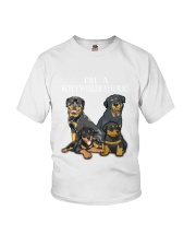 Rottweiler Camp Mau White Youth T-Shirt thumbnail