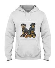 Rottweiler Camp Mau White Hooded Sweatshirt thumbnail