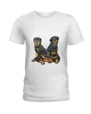 Rottweiler Camp Mau White Ladies T-Shirt thumbnail