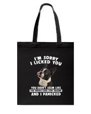 Boston Terrier Licked You Tote Bag thumbnail