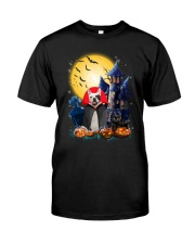 French Bulldog Dracular and Black Cat Classic T-Shirt thumbnail
