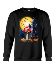 French Bulldog Dracular and Black Cat Crewneck Sweatshirt front