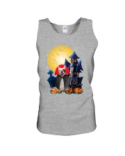 French Bulldog Dracular and Black Cat Unisex Tank thumbnail