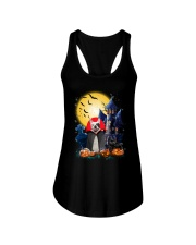 French Bulldog Dracular and Black Cat Ladies Flowy Tank thumbnail