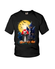 French Bulldog Dracular and Black Cat Youth T-Shirt thumbnail