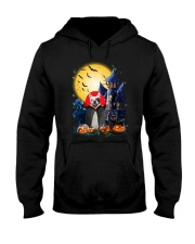 French Bulldog Dracular and Black Cat Hooded Sweatshirt thumbnail