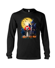 French Bulldog Dracular and Black Cat Long Sleeve Tee thumbnail