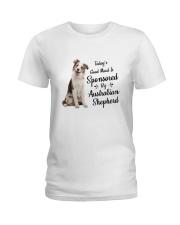 Sponsored By Australian Shepherd  Ladies T-Shirt thumbnail