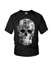 Poodle Skull Youth T-Shirt thumbnail