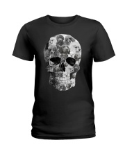 Poodle Skull Ladies T-Shirt thumbnail