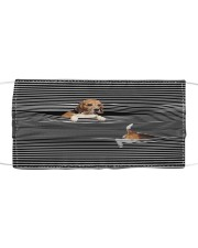 Beagle Striped T821  Cloth face mask front