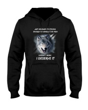 Wolf strong Hooded Sweatshirt thumbnail