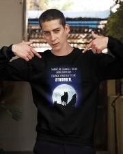 Wolf Be Stronger Crewneck Sweatshirt apparel-crewneck-sweatshirt-lifestyle-04