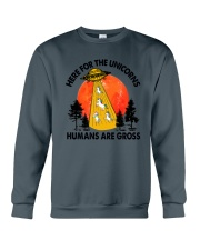 Here For Unicorn Crewneck Sweatshirt thumbnail